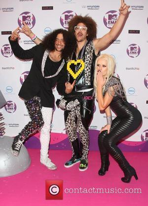 LMFAO and Lauren Bennett The MTV Europe Music Awards 2011 (EMAs) held at the Odyssey Arena - Press Room Belfast,...