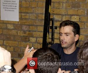 David Tennant meets with fans outside the Wyndhams Theatre after performing in 'Much Ado About Nothing'  London, England -...
