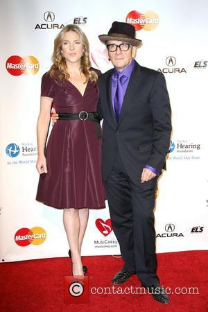 Diana Krall and Elvis Costello 2011 MusiCares Person of the Year Tribute to Barbara Streisand held at the Los Angeles...