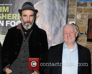 Daniel Day-Lewis, and director Jim Sheridan at a screening: 'My Left Foot' at the start of the Jim Sheridan In...