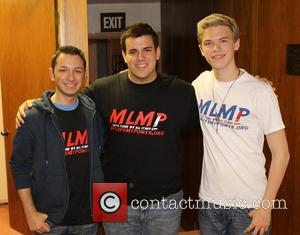 Steven Mango, Michael MacRae and Kenton Duty Celebrities record PSA's for My Life My Power at Puder Studios in Hollywood...