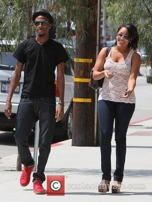 Natalie Nunn reality star from 'The Bad Girls Club' going out to lunch at Toast with a friend Los Angeles,...