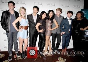 Cory Monteith, Amber Riley, Glee, Heather Morris, Kevin Mchale, Las Vegas and Naya Rivera