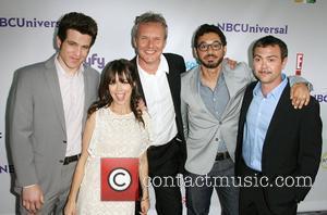 Cast of 'Free Agents' Mo Mandel, Natasha Leggero, Anthony Head, Al Madrigal and Joe Lo Truglio NBC Press Tour Party...