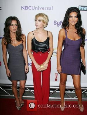 Cast of 'Dirty Soap' Kelly Monaco, Farah Fath and Nadia Bjorlin NBC Press Tour Party held at The Bazaar at...