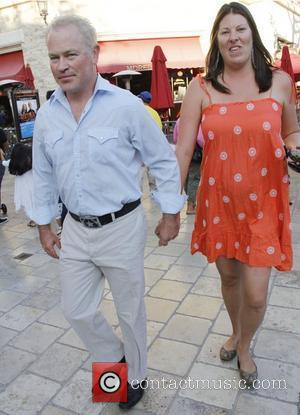 Neal McDonough and his wife Ruve Robertson taking a stroll at The Grove Los Angeles, California, USA - 15.10.11