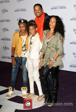 Jaden Smith, Justin Bieber, Will Smith and Willow Smith