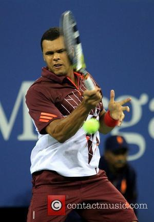 Jo-Wilfred Tsonga vs. Roger Federer on Day Eleven of the US Open held at the USTA Billie Jean King National...