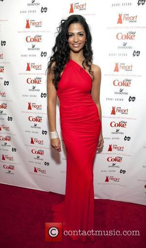 Camila Alves wearing Kaufman Franco  Mercedes-Benz IMG New York Fashion Week Fall 2011 - The Heart Truth's Red Dress...