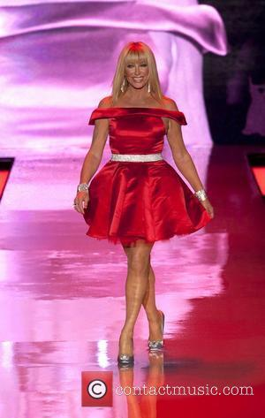Suzanne Somers wearing Ina Soltani  Mercedes-Benz IMG New York Fashion Week Fall 2011 - The Heart Truth's Red Dress...