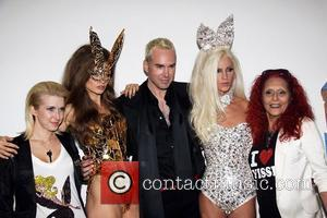 Models, Felippe Blond and Patricia Field New York Mercedes-Benz Fashion Week Spring 2012 - The Blonds presented by Playboy -...