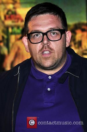 Actor and co-writer Nick Frost meets fans and signs copies of the DVD of his latest film 'Paul' at HMV...
