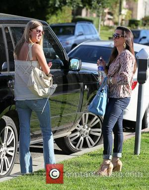 Nicky Hilton and Kyle Richards  go shopping together at Saks Fifth Avenue in Beverly Hills. Los Angeles, California, USA...