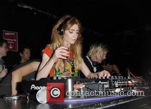 Girls Aloud star Nicola Roberts performs a DJ set at her single launch party for her debut solo single 'Beat...