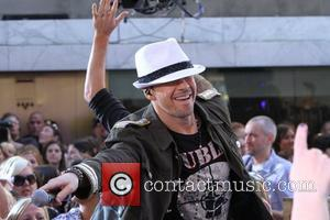 Donnie Wahlberg, New Kids On The Block and Backstreet Boys perform live on on NBC's 'Today'  New York City,...