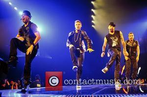 Brian Littrell, Nick Carter, A.J. McLean and Howie Dorough of Backstreet Boys   performing live in concert on the...