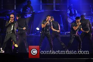 NKOTBSB, New Kids on the Block and Backstreet Boys   performing live in concert on the NKOTBSB Tour at...