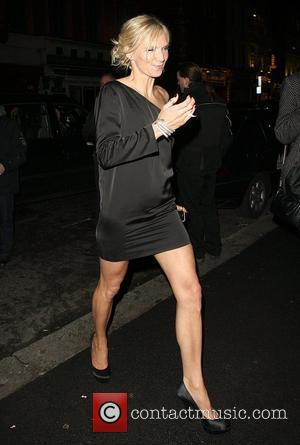 Jo Whiley Celebrities outside the NME Awards after party held at W London Hotel London, England - 24.02.11