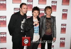 Matt Bellamy, Christopher Wolstenholme and Dominic Howard of Muse Shockwaves NME Awards 2011 held at the O2 Academy Brixton -...