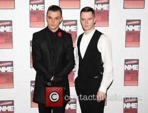 Theo Hutchcraft and Adam Anderson of Hurts Shockwaves NME Awards 2011 held at the O2 Academy Brixton - Arrivals London,...