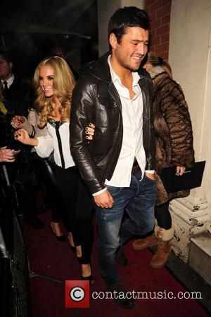 Kayla Collins and Mark Wright leave Nobu restaurant London, England - 01.02.11