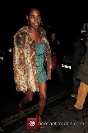 Sonique leaves Nobu restaurant London, England - 01.02.11