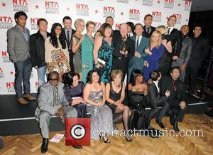 Cast of Eastenders,  The National Television Awards 2011 (NTA's) held at the O2 centre - Winners Boards London, England...