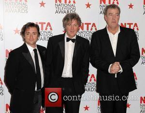Richard Hammond, James May and Jeremy Clarkson of Top Gear,  The National Television Awards 2011 (NTA's) held at the...