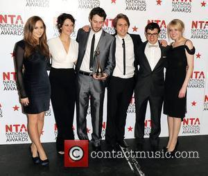 The Inbetweeners,  The National Television Awards 2011 (NTA's) held at the O2 centre - Winners Boards London, England -...