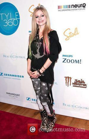 Avril Lavigne New York Mercedes-Benz Fashion Week Spring 2012 - Abbey Dawn - Backstage New York City, USA - 12.09.11