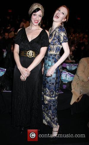 Sarah Sophie Flicker and Karen Elson