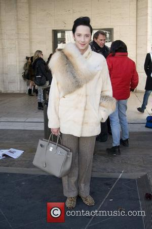 Johnny Weir Mercedes-Benz IMG New York Fashion Week Fall 2011 - Celebrities out and about at Lincoln Center New York...