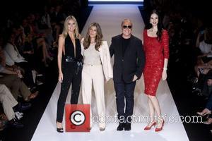 Heidi Klum, L'Wren Scott, Michael Kors and Nina Garcia
