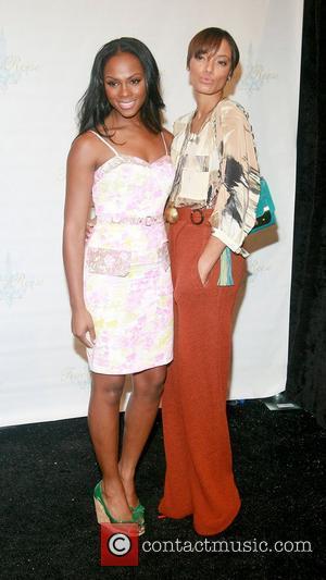 Tika Sumpter and Selita Ebanks New York Mercedes-Benz Fashion Week Spring 2012 - Tracy Reese - Backstage. New York City,...