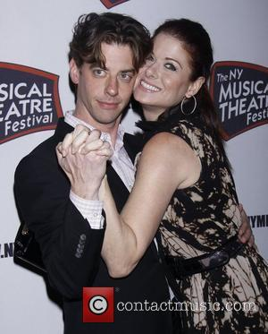 Christian Borle and Debra Messing from the Tv show Smash  The New York Musical Theatre Festival's Eighth Season Awards...