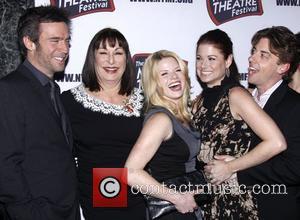 Jack Davenport, Anjelica Huston, Christian Borle, Debra Messing, Megan Hilty and The Hudson Theatre