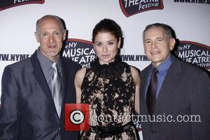 Debra Messing, Craig Zadan and The Hudson Theatre