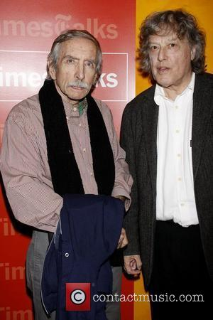 Edward Albee and Tom Stoppard 'New York Times Talks' photocall held at the Times Centre New York City, USA -...