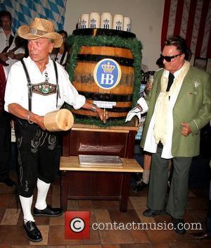 Siegfried Fischbacher and Roy Horn  Magicians Siegfried and Roy kick off Oktoberfest, at Hofbrauhaus German Restaurant Las Vegas, Nevada...