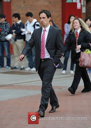 Gary Neville Departures from Old Trafford following Manchester Utd's victory over Chelsea Manchester, England - 08.05.11