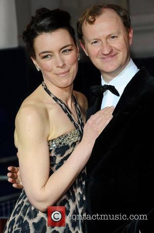 Olivia Williams & Mark Gattis  ,  at the 2011 Olivier Awards at the Theatre Royal - Arrivals London,...