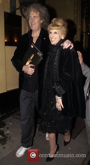 Brian May And Anita Dobson ,  at the 2011 Olivier Awards - After Party at the Waldorf Hotel -...