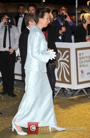 Princess Anne BT Olympic Ball held at Olympia - Arrivals. London, England - 07.10.11