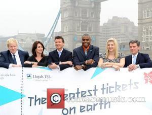 Boris Johnson, Carl Lewis and Rebecca Adlington