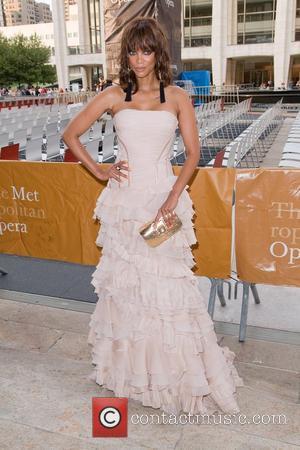 Tyra Banks  attending The Metropolitan Opera Season opening night performance of Anna Bolena New York City, USA - 26.09.11