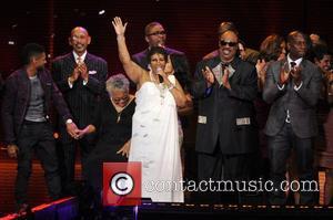Aretha Franklin and Stevie Wonder