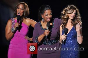 Gayle King, Maria Shriver and Oprah Winfrey