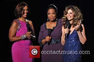 Gayle King, Maria Shriver and Oprah Winfrey