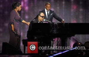Oprah Winfrey, Jamie Foxx and Stevie Wonder