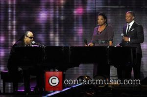 Stevie Wonder, Jamie Foxx and Oprah Winfrey